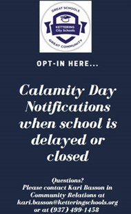 Opt-In for Calamity Day Notifications