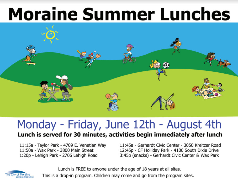 Moraine Summer Lunch Program Runs June 12 to August 4